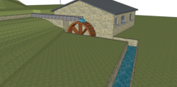 3D image of a waterwheel
